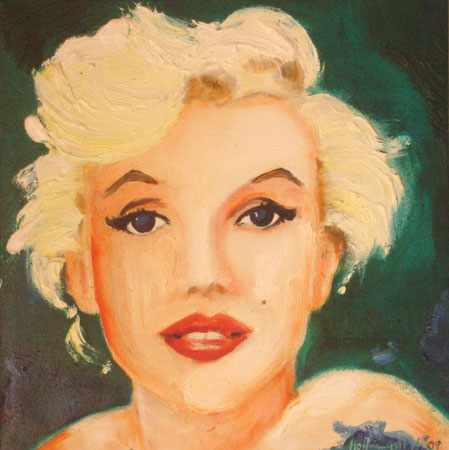 Marilyn Monroe 2009 Oil on canvas 30.5x30.5cm