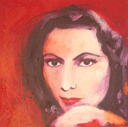 Dolores del Rio 2009 Oil on canvas 30.5x30.5 available