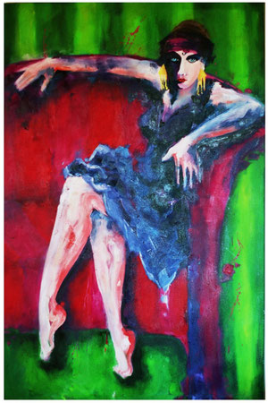 Gloria Swanson 2008 Oil on canvas 146x98cm