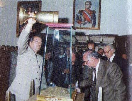 Sociedad Bolivariana de Boyacá - de izq a der. Eduardo Malagón Bravo, E.R.M, Gabriel Betancur Mejía