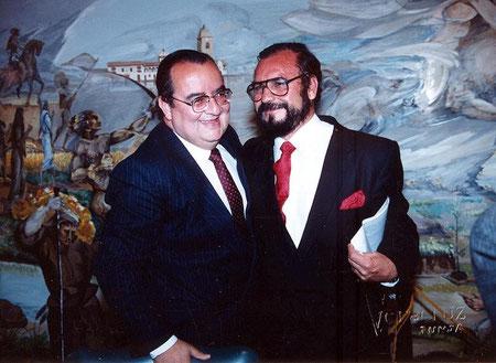 Acto Academia Boyacense de Historia - de izq a der. Javier Ocampo López, E.R.M