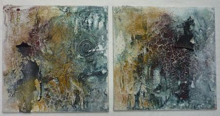 Im Inneren der Erde gibt es viel zu entdecken.... - Pigmente und Tusche 80 x 40 cm, 2012