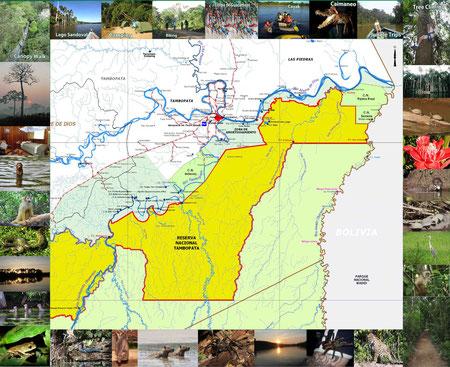 mapa de circuito turistico de tarantula expedition