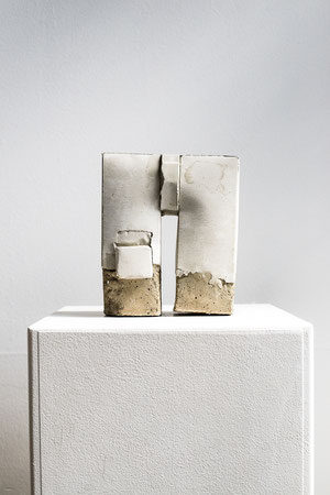 Betonbauten Nr. 3 ,2015,  Betonguss, 18x16x7,  Foto Stefan Ostler