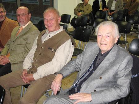 Unsere ehemaligen Rektoren Walter Beck, Adolf Hanke und Franz Itermann (v.l.n.r.)