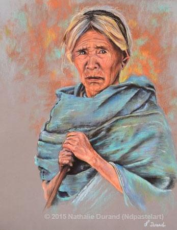 La vieille dame de Nogaland (Inspiré d'une photo de Patrick de Wilde avec son aimable autorisation).