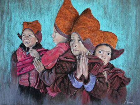 Les moinillons (Inspiré d'une photo d'Agnès Cassière avec son autorisation)