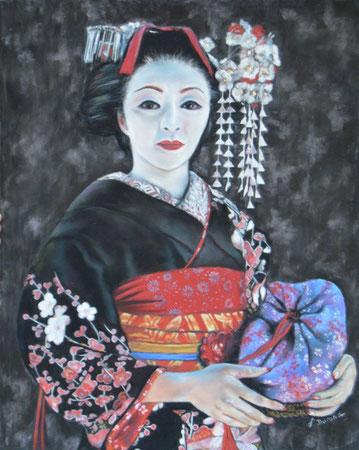 La geisha I (Inspiré d'une photo de Patrick de Wilde avec son aimable autorisation).