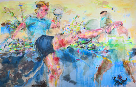 Kick! 2017 | acrylic on canvas | 200 cm x 300 cm