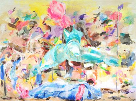 Jump 2017   acrylic on canvas   200 cm x 270 cm
