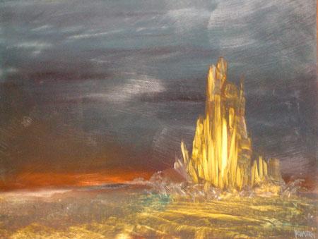 la montagne d'or-huile-40x50-1975