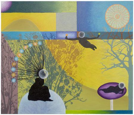 Inner Circle 9, 100x80 cm, Öl auf Leinwand, 2020