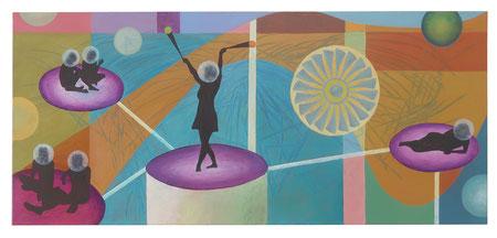 Inner Circle 7, 55x130 cm, Öl auf Leinwand, 2020