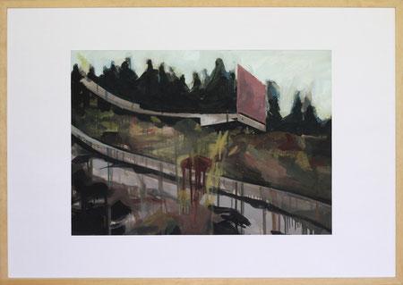 Nach Olympia Sarajevo, 2014, 50 x 70 cm, Öl auf Papier