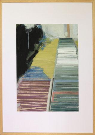 Nach Olympia Innsbruck II, 2014, 50 x 70 cm, Öl auf Papier