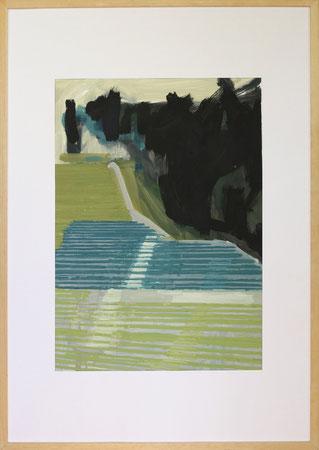 Nach Olympia Innsbruck I, 2014, 50 x 70 cm, Öl auf Papier