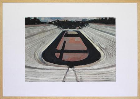 Nach Olympia Athen II, 2014, 50 x 70 cm, Öl auf Papier