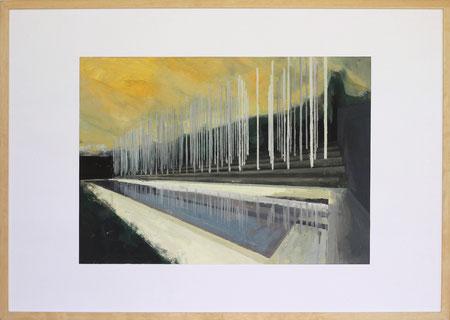Nach Olympia Athen I, 2014, 50 x 70 cm, Öl auf Papier