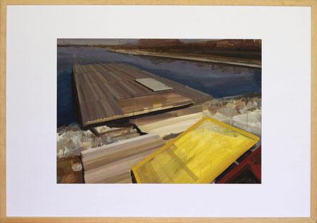 Nach Olympia Peking, 2014, 50 x 70 cm, Öl auf Papier