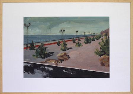 Nach Olympia Sotchi, 2014, 50 x 70 cm, Öl auf Papier