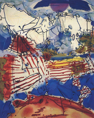 Nervenfelder, Öl auf Köper, 2000