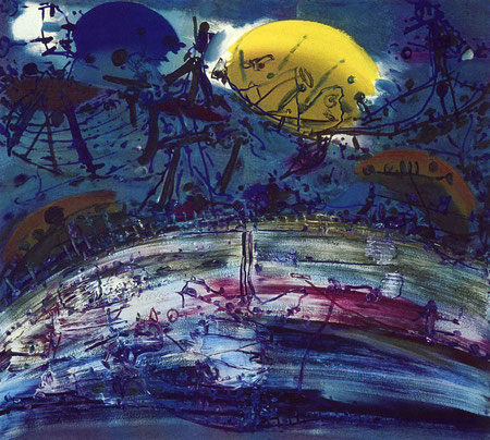 Dünung, Öl auf Köper, 1997-98-99