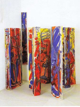 """""""Fensterbilder"""", Öl auf Leinwand, 1989"""