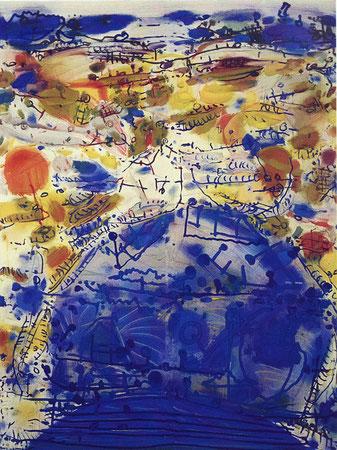 Optimistisches Bild, 2. Versuch, Öl auf Köper, 2000