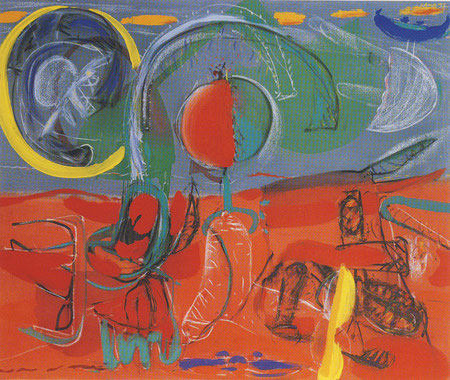 """Keine Kueste"", Acryl auf Leinwand, 1992"