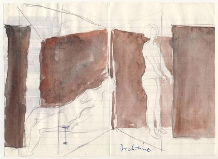 Entwurfszeichnungen von Armin Saub und Walter Bidlingmaie