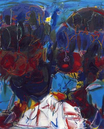 Begegnung 1, Öl auf Leinwand, 1994
