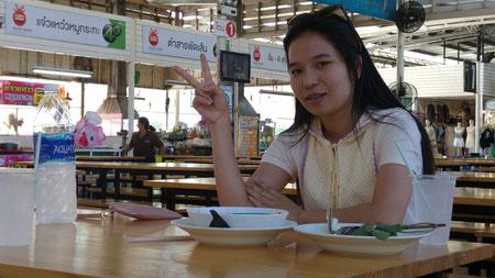 Meine Urlaubsabschnittsgefährtin in Udon Thani in UD Town