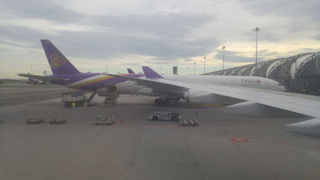 Landung in Bangkok