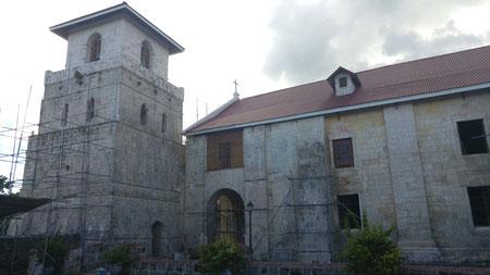 Baclayon Church, die zweitälteste Kirche auf den Philippinen (die älteste steht in Cebu, weiter unten zu sehen)