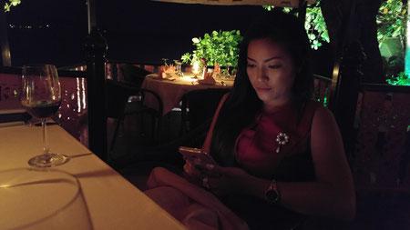 Baan Rim Pa Restaurant - meine Urlaubsabschnittsgefährtin hatte Geburtstag