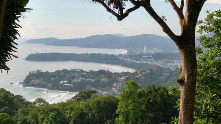Aussichtspunkt, Blick auf Karon Beach