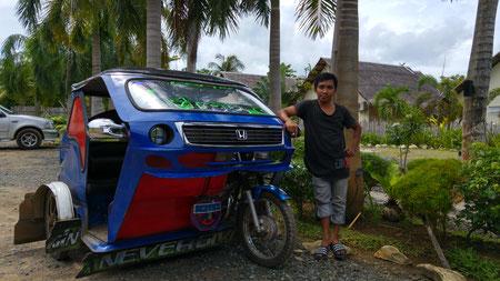 J.R. mit seinem Trike,  Puerto Princesa