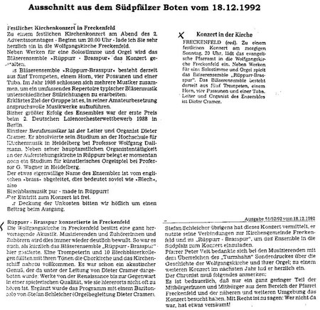 Südpfälzer Bote 18.12.1992