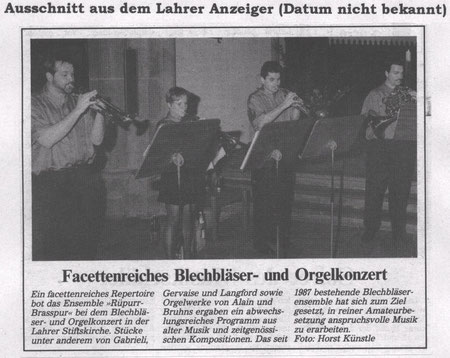 Lahrer Anzeiger (Datum unbekannt)