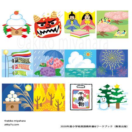 2020年度小学校英語教科書・絵カード(教育出版)