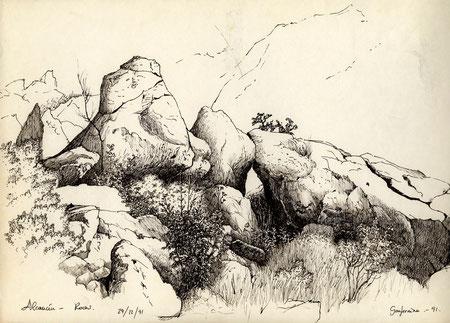 Rocas en Alcaucín