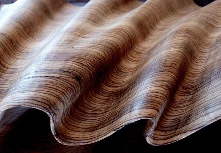 Zébrano wood 1m80cm ©Isabelle Dethier