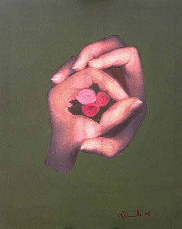 Abbraccio - canner puro - olio su canvas - 50 x 40 - 2008