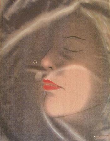 Titolo : In fondo alla notte c'è ancora, c'è ancora  Dimensioni : 50 x 40  tecnica: scanner puro – olio su canvas  anno . 2008