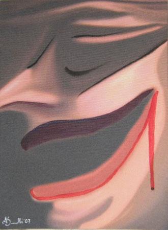 Titolo : Tacchi a spillo   Tecnica:  scanner – elaborazione digitale – acrilico su canvas        Dimensione:  41 x 29   Anno : 2007