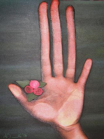 Peculiarità - scanner puro - olio su canvas - 50 x 40 - 2008