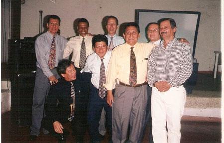 Atras: Edie Terranova, Henry Manyoma, Carlos Cárdenas y Jairo Penilla. Adelante: Miguel Rodríguez, Germán Medina, Lombardo Gil y Raúl Salcedo.