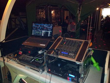 DJ-Stand von hinten