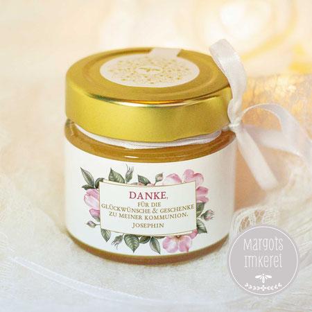 Honig - süße Gastgeschenke - Dankeskarte - Tischkarte - Hochzeit - Kommunion - Konfirmation - Geburtstag - personalisierbar