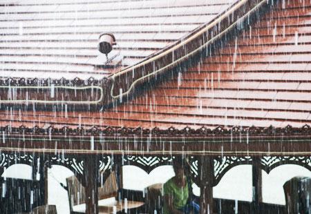 Strömender Regen